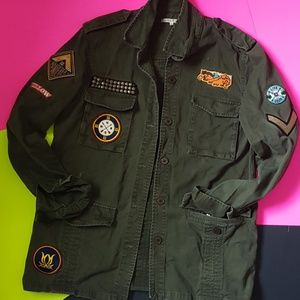 WILLOW & CLAY PATCHES MILITARY JACKET